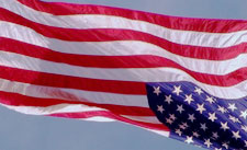 American flag in distress