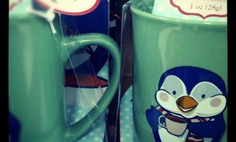 hot chocolate mix in penguin mug
