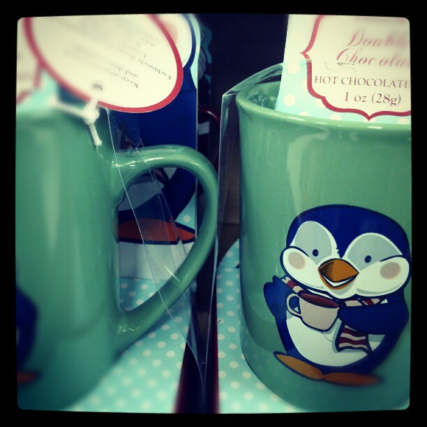 hot chocolate mix in penguin mug