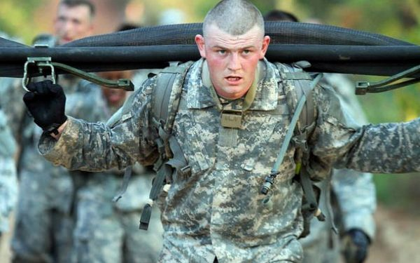 US Army paratroopers in training