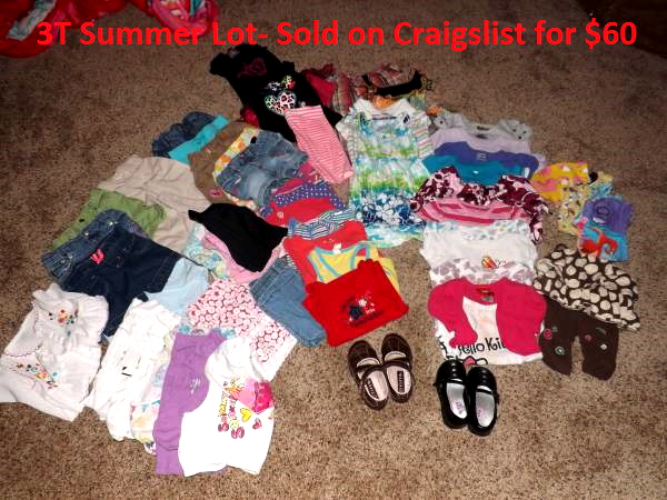 Clothes sold on Craigslist