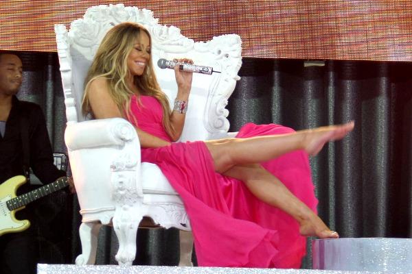 Mariah Carey performs live on 'Good Morning America'
