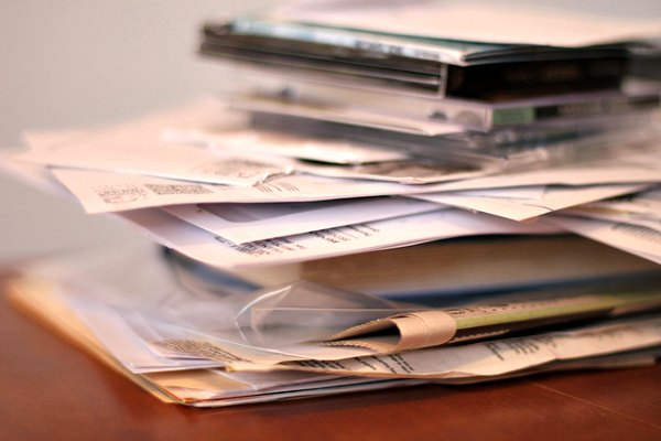 Pile of mail and bills