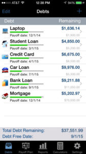 debt payoff assistant app