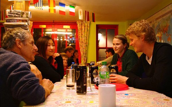 Hostel guests at Barnacles in Ireland