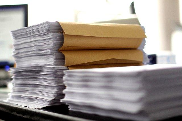 Huge stacks of paperwork