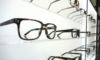 Eyeglasses in store