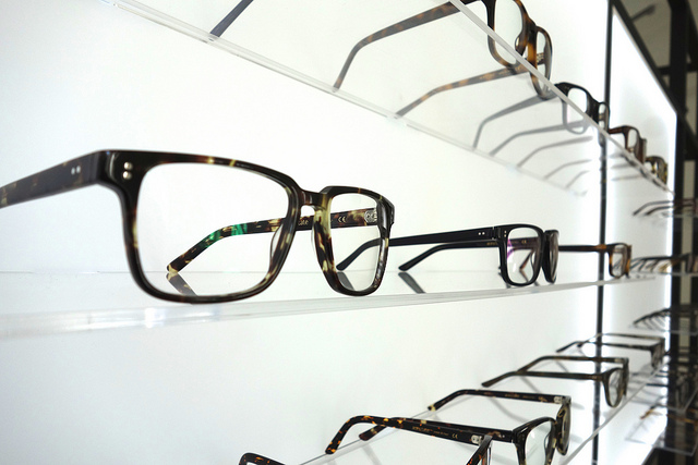 Eyeglasses in store
