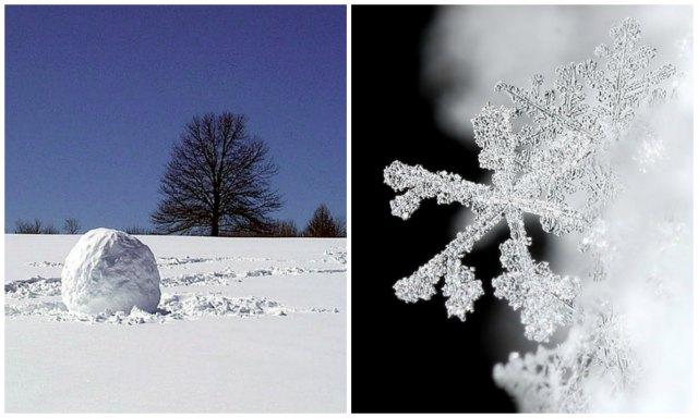 snowball; snowflake