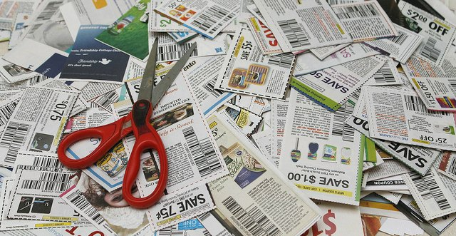 coupons and scissors