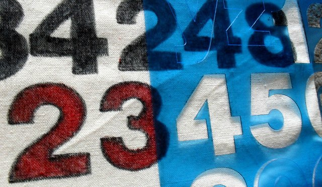 Stenciled numbers