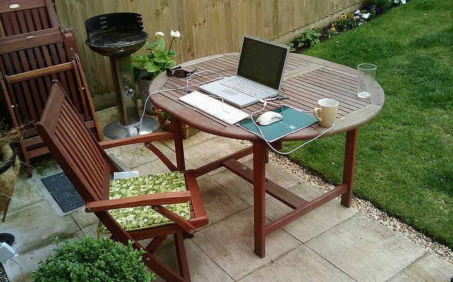 Home office in backyard