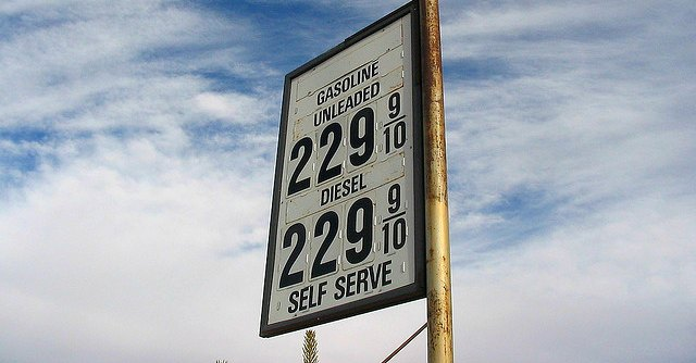Gas prices at $2.29 per gallon
