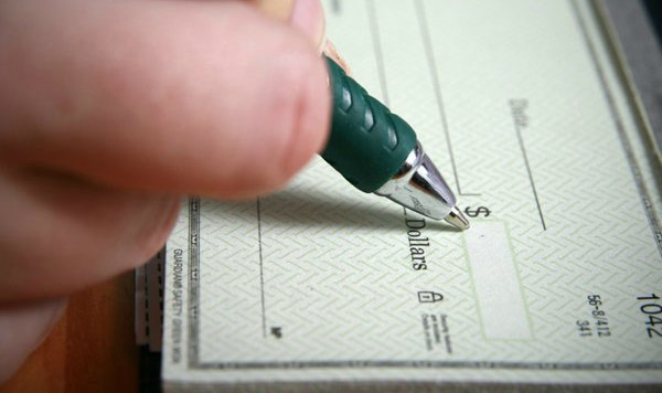 Writing a check from checking account - balance transfer checks
