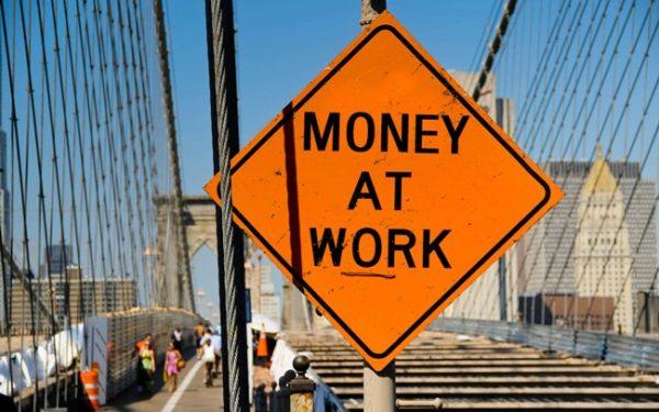 Money at Work sign