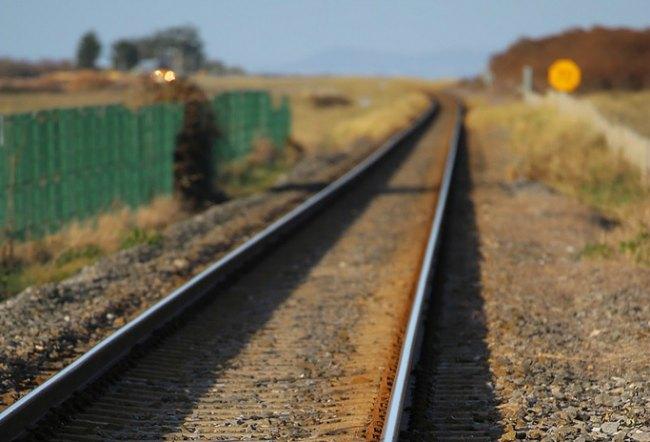 train tracks in Ireland