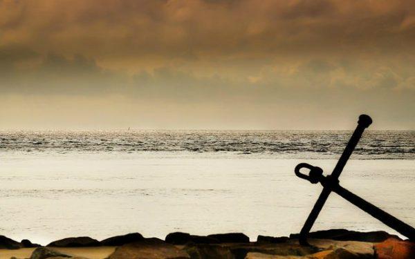 anchor on beach