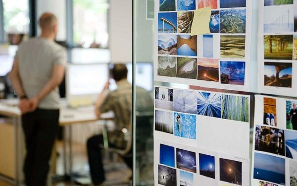 workers in design studio