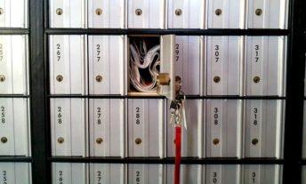 PO Box left unlocked - credit fraud alert