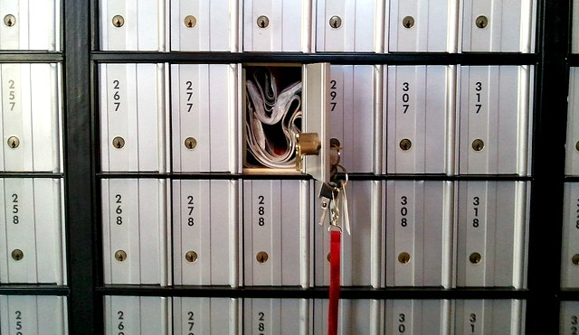 PO Box left unlocked