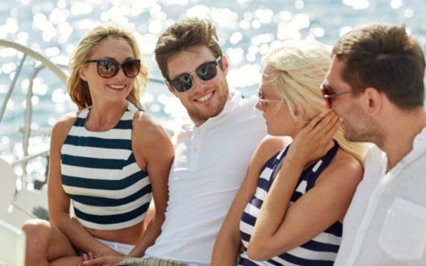 fancy pants people on a yacht