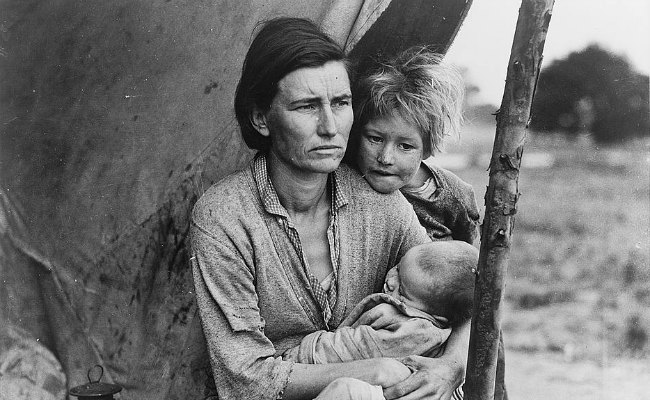 california family during great depression