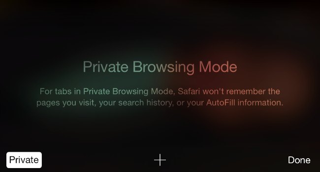private browsing on iphone