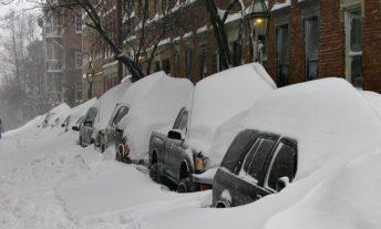 boston street under snow