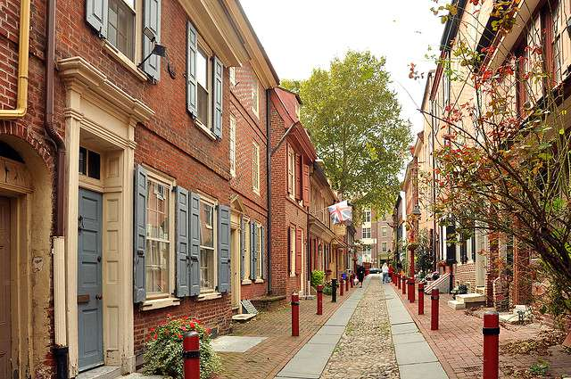 Elfreth's Alley in Philadelphia