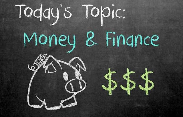 money lessons on chalkboard