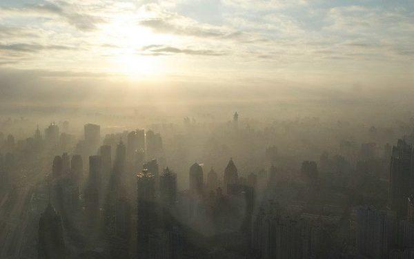 smog in shanghai china