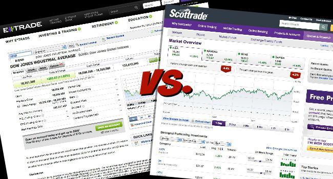 etrade vs scottrade vs etrade
