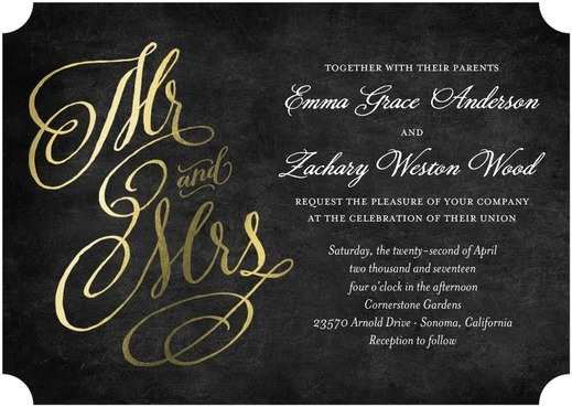 foil stamped affordable wedding invitations
