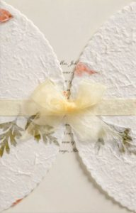 cheap wedding invitations pressed flowers
