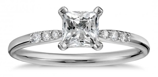 princess cut diamond - affordable engagement ring