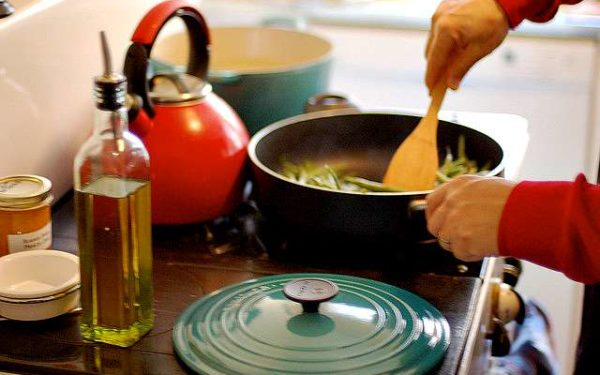 cooking with Le Creuset pot