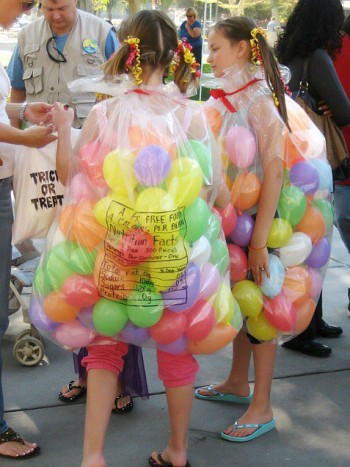 cheap DIY costumes - jelly beans