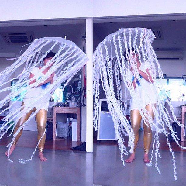 DIY jellyfish costume for halloween