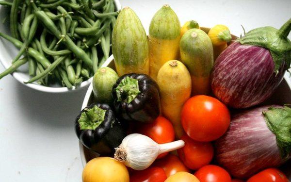 veggies from CSA share
