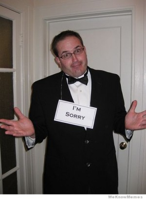 cheap and easy halloween costumes - formal apology