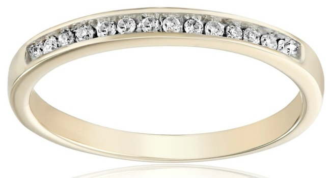 affordable gold and diamond wedding ring band