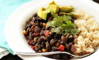 black bean stew