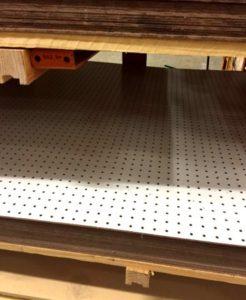 peg board as bed platform