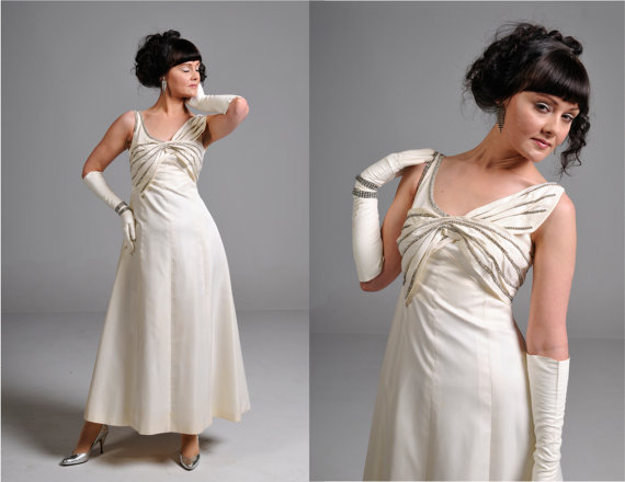affordable wedding dresses - vintage 1950s dress