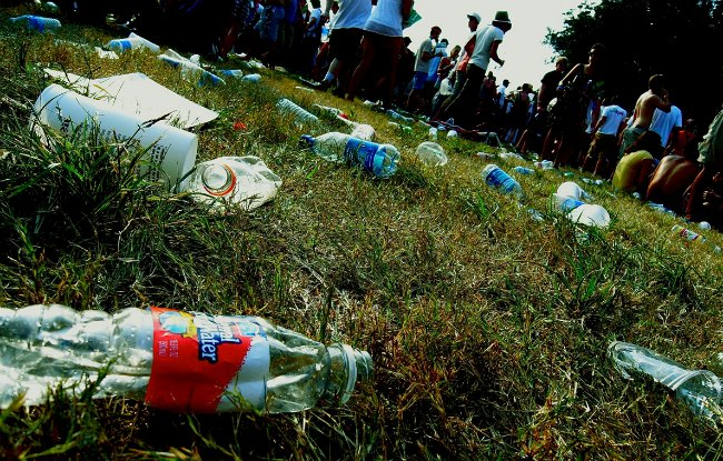 litter on a field