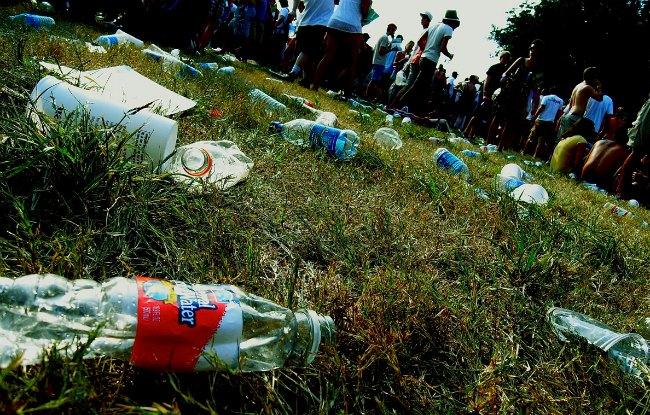 litter on a field