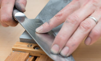 sharpening stone and knife