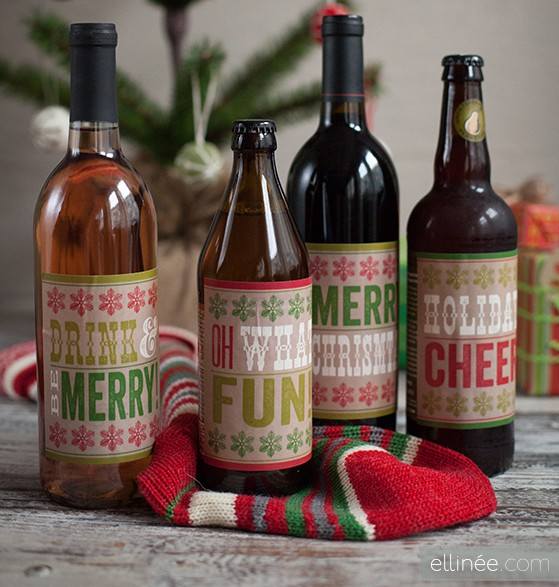 bottle labels diy holiday gifts