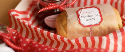 homemade gifts: Bread and jam