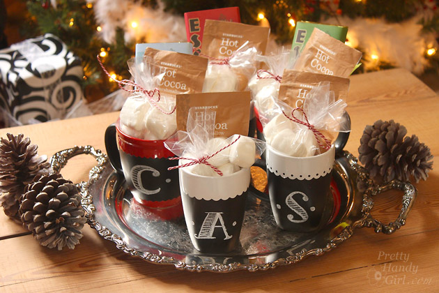 chalkboard mugs homemade gifts
